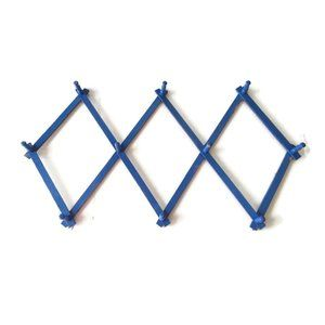 Other - VTG Painted Blue Wood Expandable Peg Rack Coffee